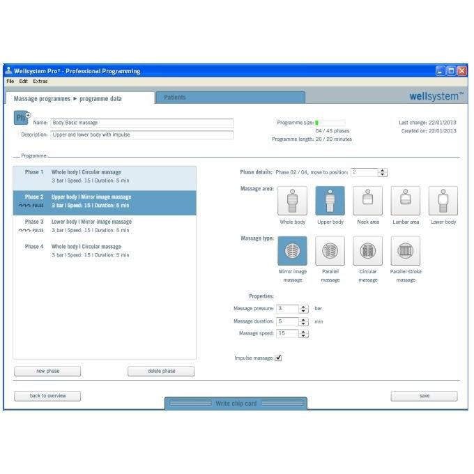 Wellsystem Pro² logiciel, incl. lecteur carte à puce