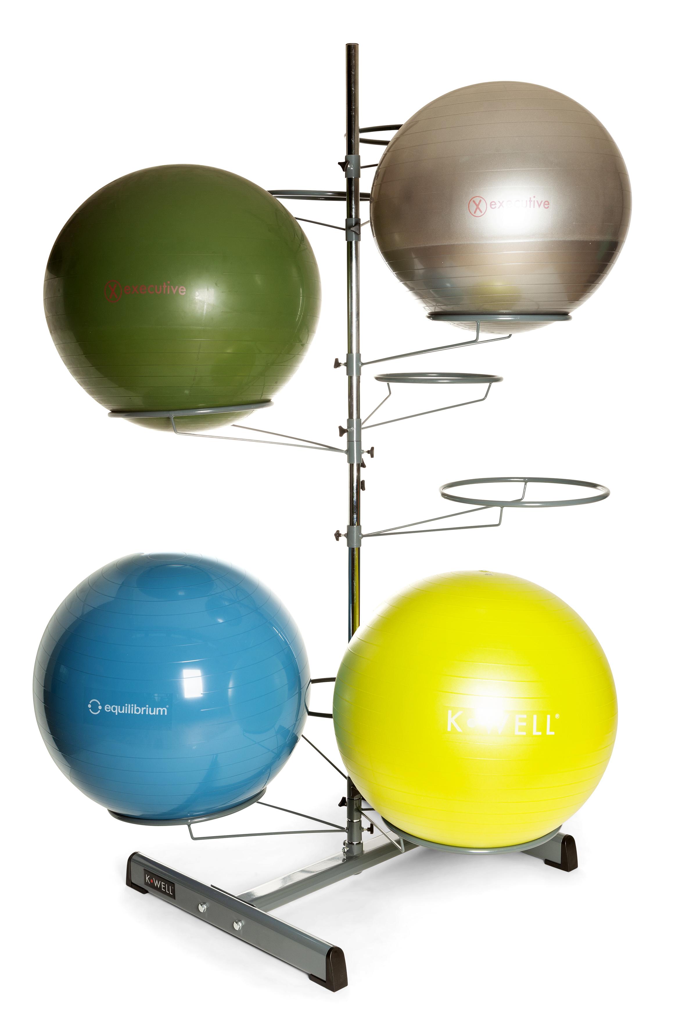 Kwell arbre / rangement - 10 ballons d'exercice/siège