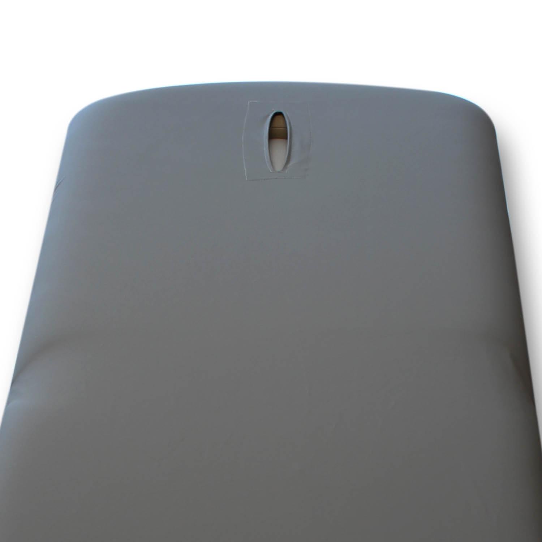 Housse désinfectable - universelle - table de massage - avec ouverture-nez - PU – granite