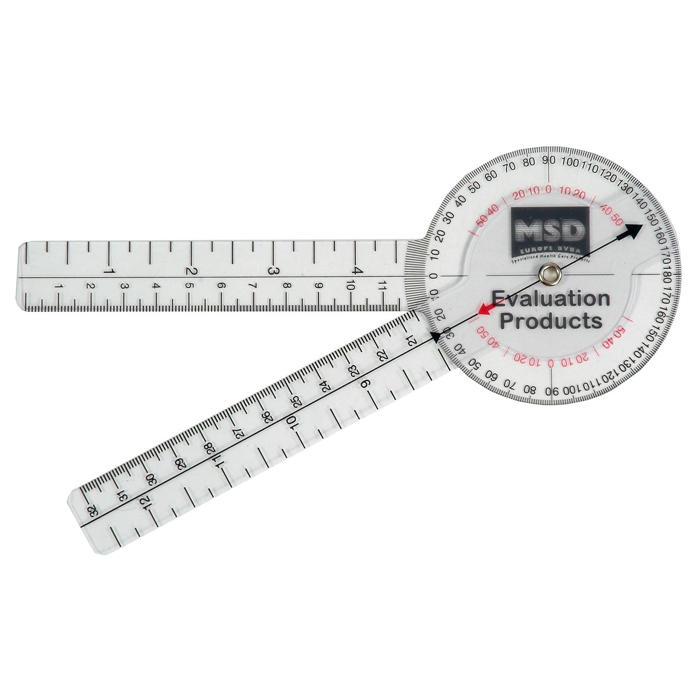 Goniomètre, 0-360° par 1° - 20 cm, plastique