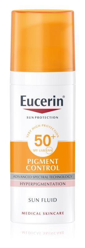 uuu Eucerin sun pigment fluid - spf 50 - 50 ml (einde voorraad)