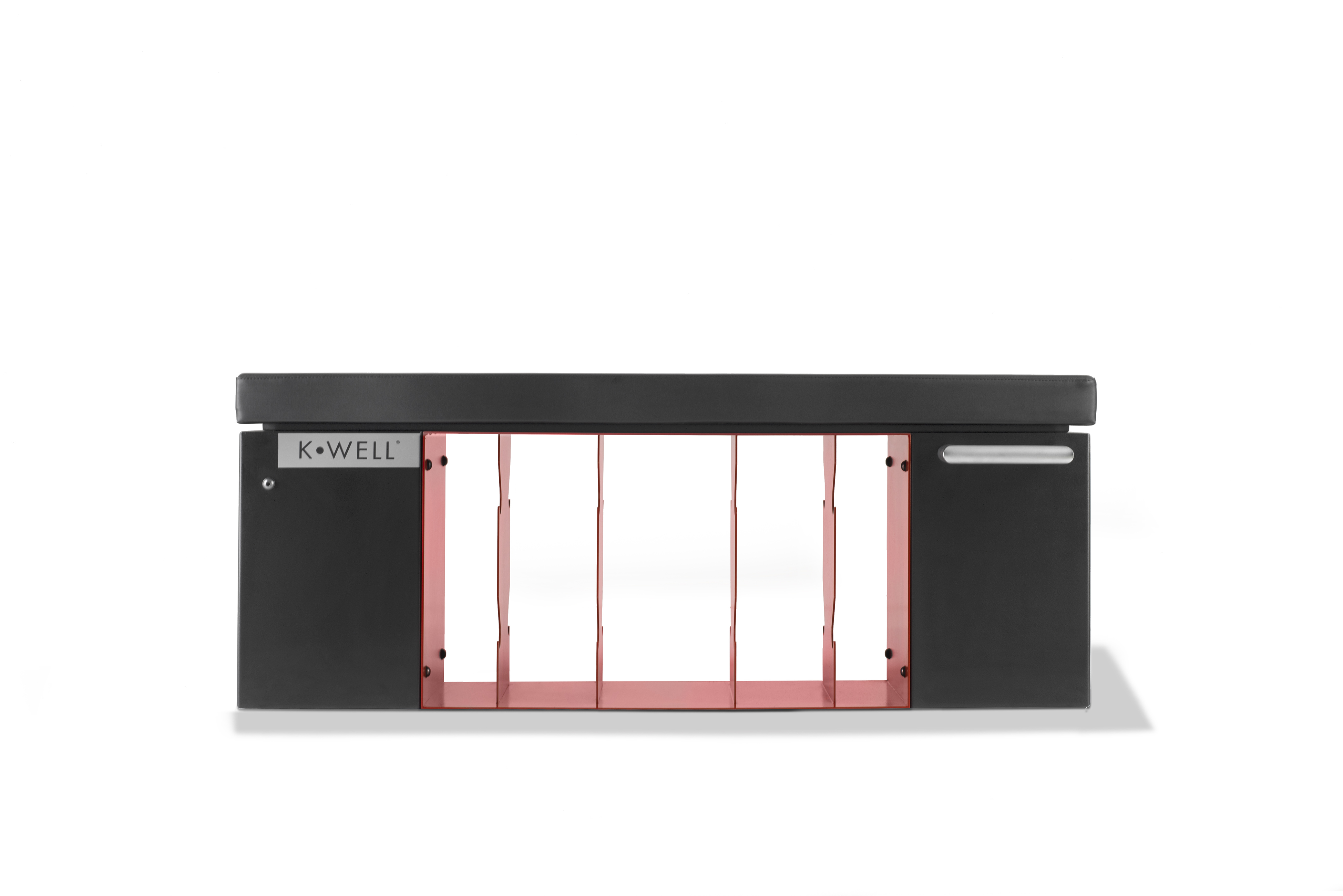Kwell Iron Bench - zwart/rood - excl. accessoires