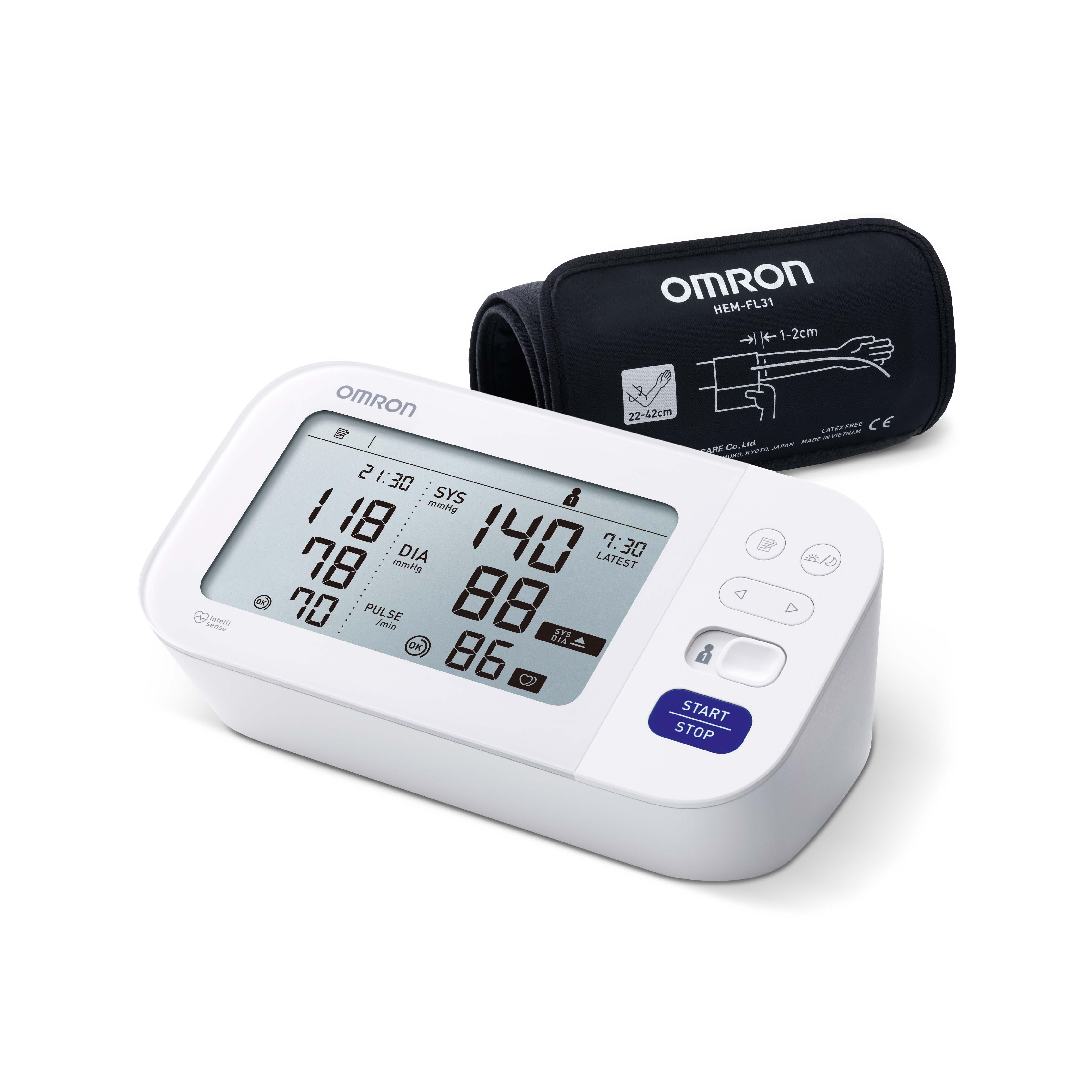 Omron bloeddrukmeter M6 Comfort - automatisch - wit