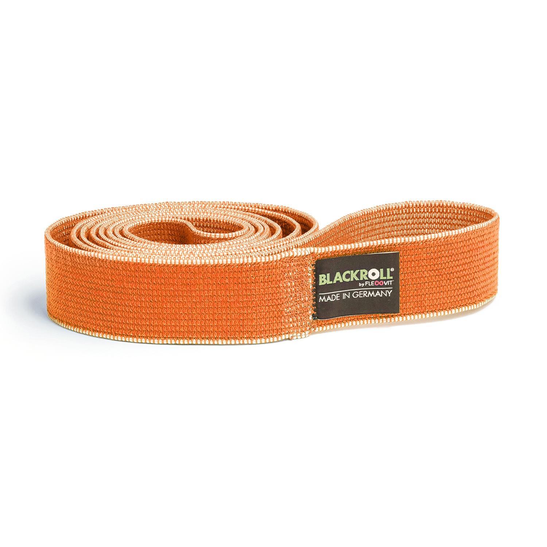 Blackroll Super loop band textiel - licht - oranje - 104 cm