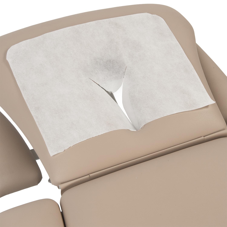 Kussenbescherming tafel, met gezichtsopening, éénmalig (100 st)