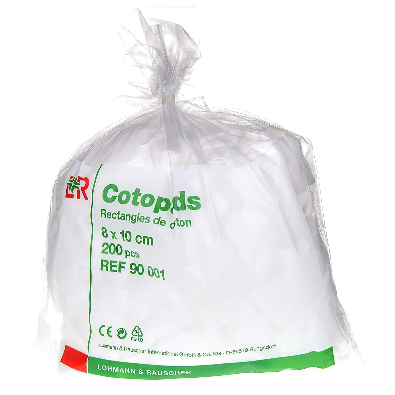 Cotopads katoen rechthoekig - 8 x 10 cm (200 st)