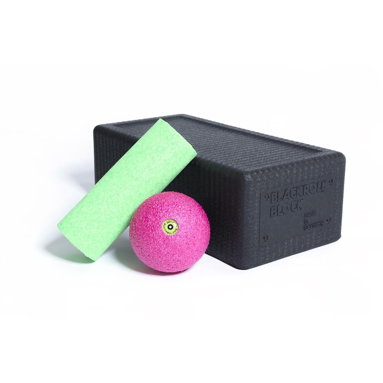 Blackroll Set Block - Mini - ball - zwart/groen/roze
