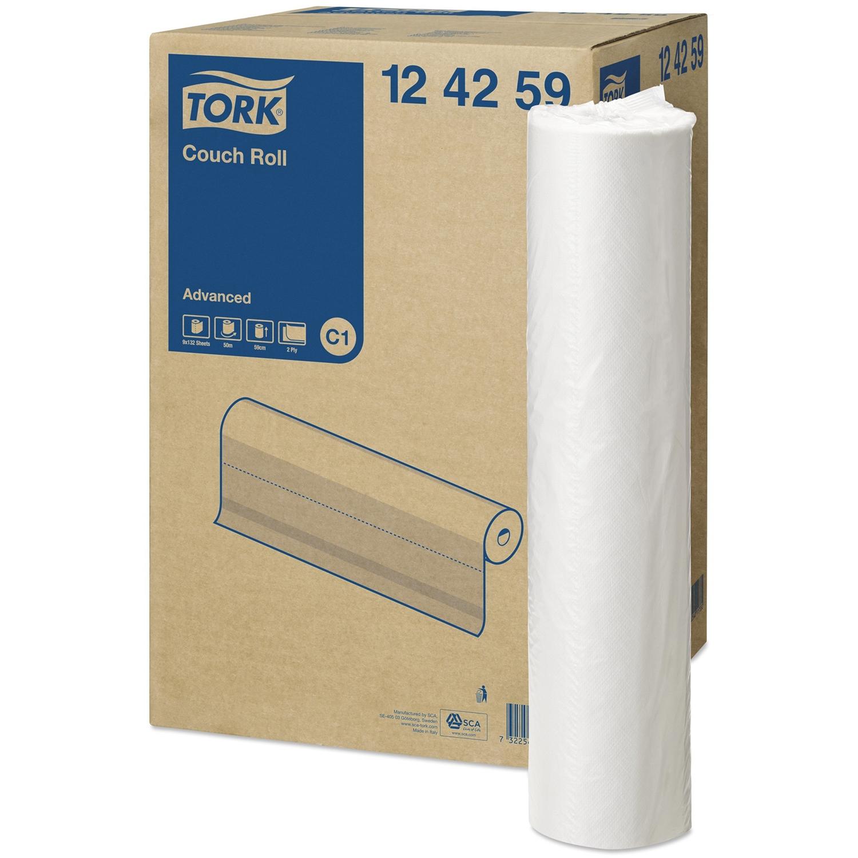 Onderzoekstafelpapier Tork - brede rol 59 cm x 50 m (9 st)