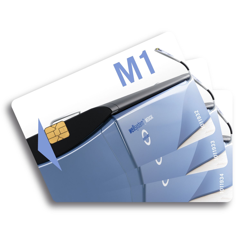 Chipcards met 3 programma's v. Wellsystem Medical, 2st.