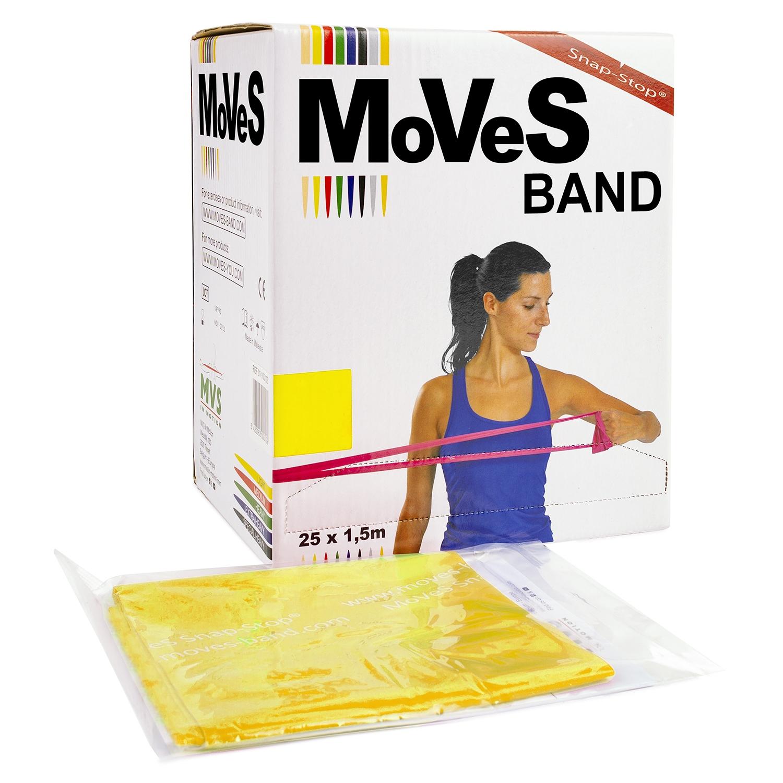 MoVeS oefenband - 1,5 m - licht/geel - verdeeldoos 25 stuks