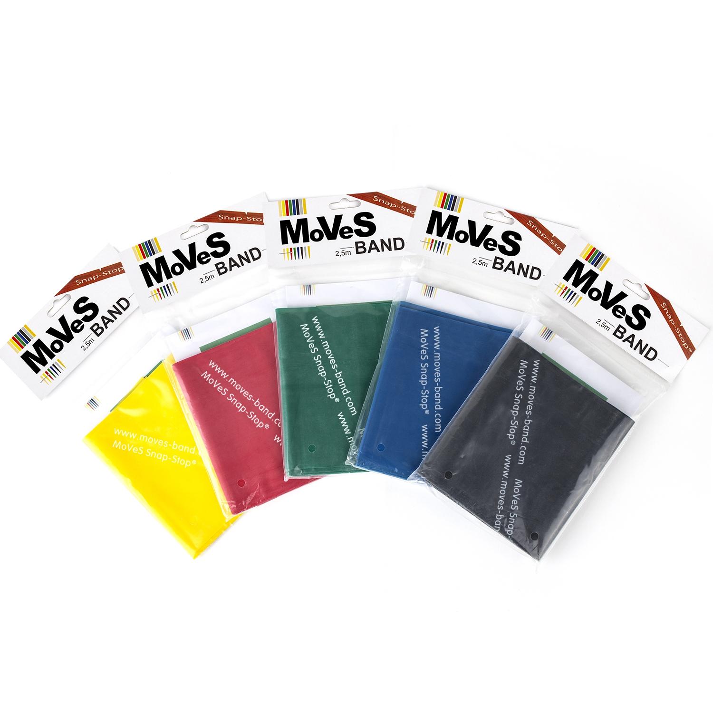 MoVeS oefenband - 2,5 m - set 5 weerstanden/ kleuren
