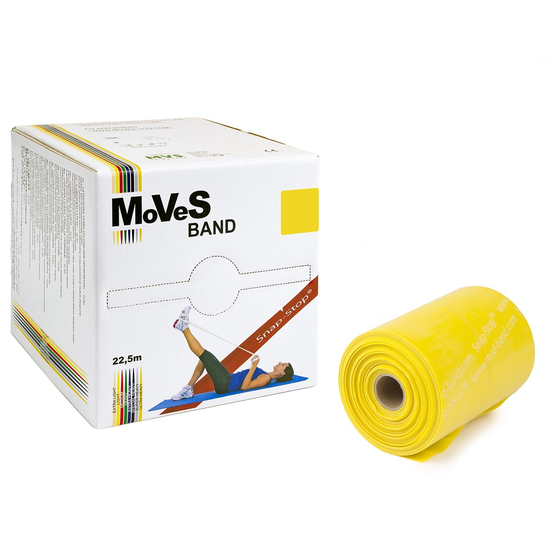 MoVeS oefenband - 22,5 m - licht - geel