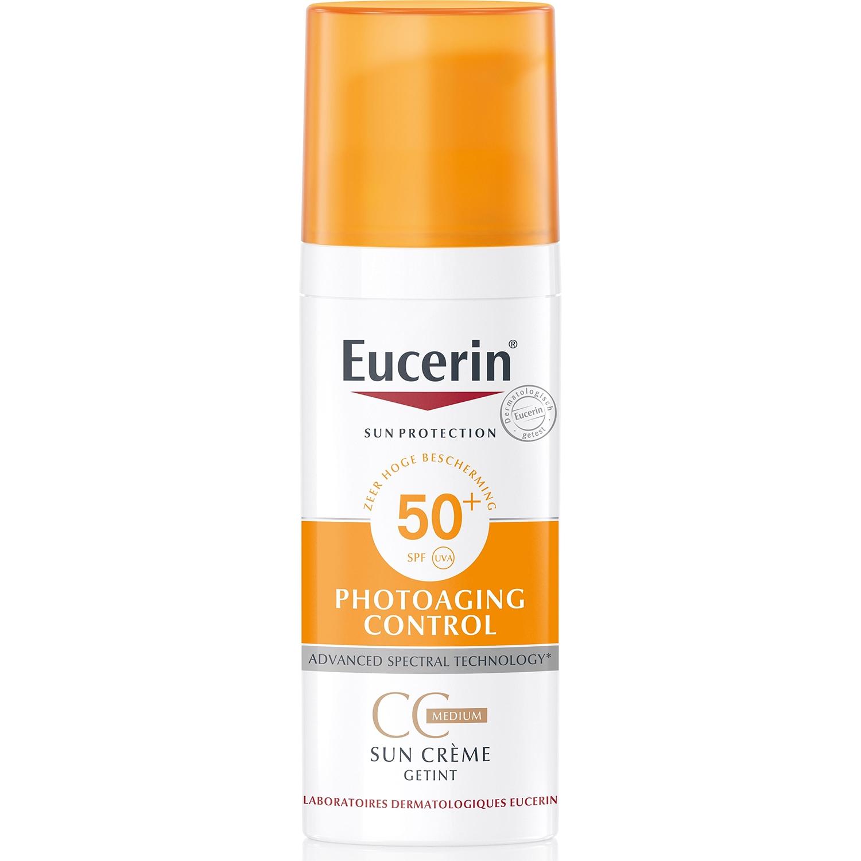 uuu Eucerin sun cc crème medium - spf 50 - 50 ml (einde voorraad)