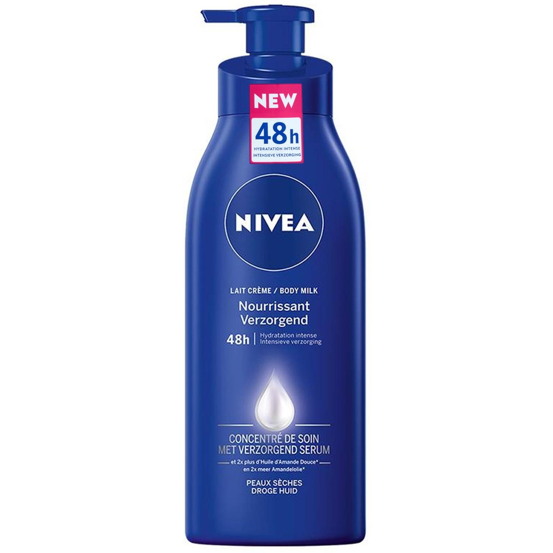 uuu Nivea body milk - droge/gevoelige huid - verzorgend - pompfles 400 ml (einde voorraad)