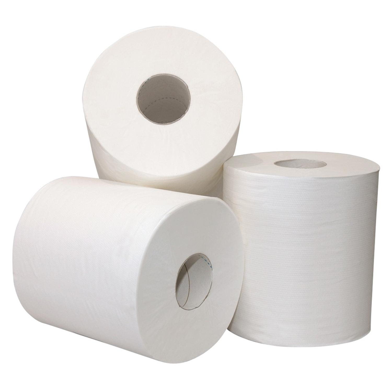 Toiletpapierrol 2 lagen - 200 vellen x 10 cm - wit (48 st)