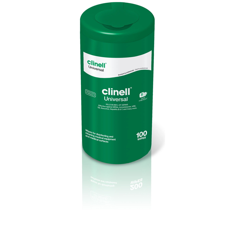 Clinell Universal desinfectiedoekjes medische oppervlakken - alcoholvrij in refill-koker (100 st)