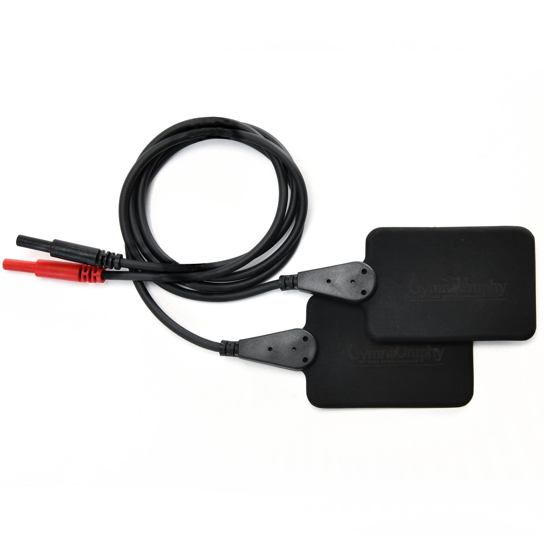Elektrode rubber - 4 x 6 cm, plug 2 mm (2 st)