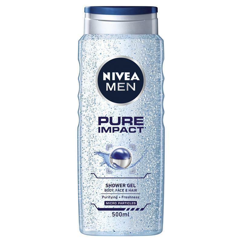Nivea men Pure impact shower gel - 500 ml (einde voorraad)