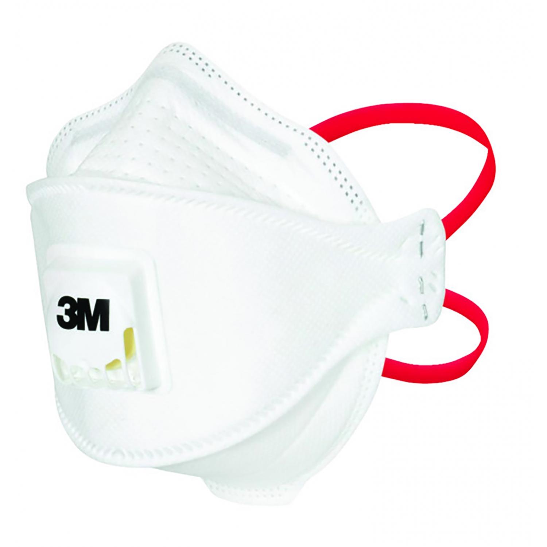 Mondmasker 3M FFP3 - hoofdelastieken - MET ventiel (10 st)
